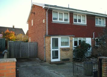 Thumbnail 2 bed semi-detached house to rent in Hythe Crescent, Seaford