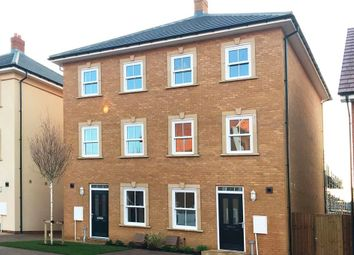 "Thumbnail 3 bed semi-detached house for sale in ""Cannington"" at Danegeld Avenue, Great Denham, Bedford"