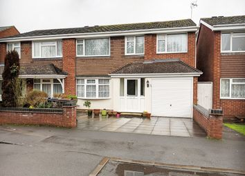 Thumbnail 4 bed semi-detached house for sale in Overton Close, Hall Green, Birmingham