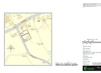 Thumbnail 4 bed detached house for sale in Building Plot, Catskin Lane, Walesby, Market Rasen