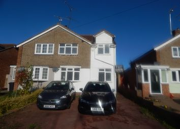 Thumbnail 3 bed semi-detached house to rent in Watermead, Luton