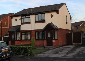 Thumbnail 2 bed semi-detached house for sale in Moorside Lane, Denton, Manchester