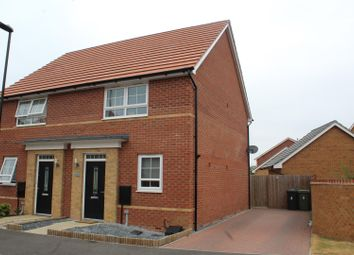 Thumbnail 2 bedroom semi-detached house for sale in Vancouver Way, Hempsted, Peterborough