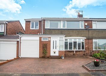 Thumbnail 4 bedroom semi-detached house for sale in Cayton Grove, Chapel House, Newcastle Upon Tyne