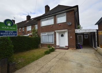 Thumbnail 3 bed semi-detached house to rent in Leggatts Rise, Watford