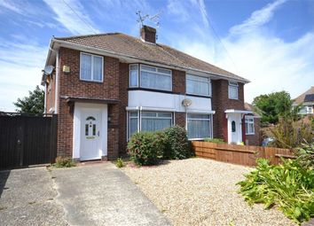 Thumbnail 3 bed semi-detached house for sale in Burlington Road, Goring-By-Sea, Worthing, West Sussex