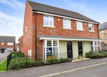 Thumbnail 3 bedroom semi-detached house for sale in Pintail Gardens, Hampton Vale, Peterborough