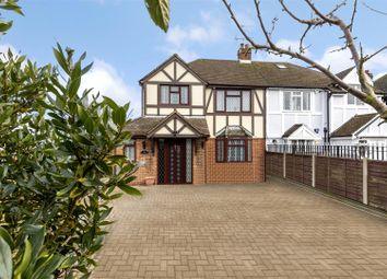 Thumbnail 3 bed semi-detached house for sale in Tudor Villas, Burton Lane, Goffs Oak, Waltham Cross