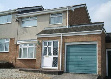 Thumbnail 3 bed semi-detached house to rent in Lon Y Bugail, Bridgend