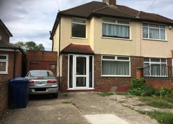 Thumbnail 4 bed semi-detached house to rent in Kensington Road, Northolt