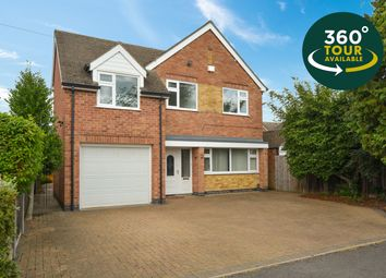 Thumbnail 4 bed detached house for sale in Woodfield Road, Oadby, Leicester