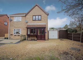 Thumbnail 2 bedroom semi-detached house for sale in Meadow Close, Stilton, Peterborough, Cambridgeshire.