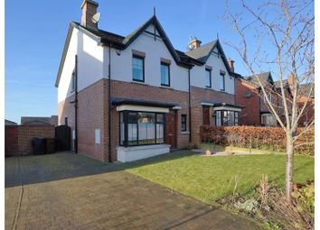 Thumbnail 3 bed semi-detached house for sale in Bracken Hill Close, Belfast