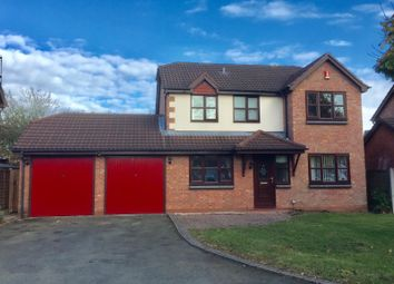 Thumbnail 4 bed detached house to rent in Wilderhope Close, Crewe