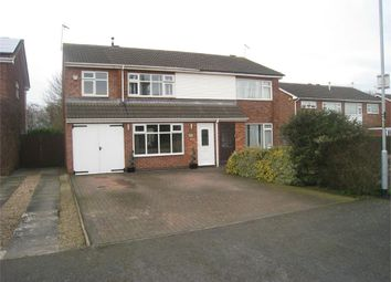 Thumbnail 4 bedroom semi-detached house for sale in Uppingham Drive, Broughton Astley, Leicester
