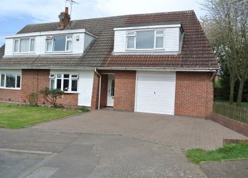 Thumbnail 4 bed semi-detached house for sale in Latimer Close, Blaby, Leicester