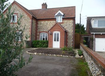 Thumbnail 3 bed semi-detached house for sale in Wells Road, Little Walsingham