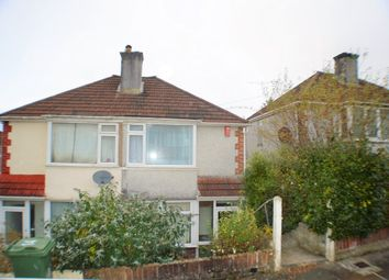 Thumbnail 2 bedroom semi-detached house to rent in Cardinal Avenue, Plymouth
