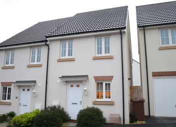Thumbnail 2 bed semi-detached house to rent in Parlour Mead, Cullompton, Devon