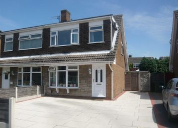 Thumbnail 3 bed semi-detached house to rent in Dunster Drive, Urmston, Manchester