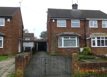 Thumbnail 2 bed semi-detached house to rent in Wordsworth Road, Luton