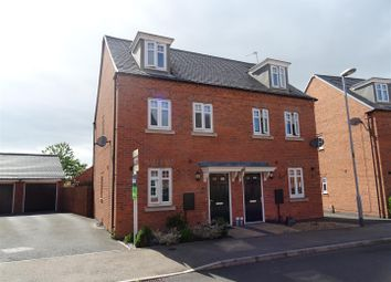 Thumbnail 3 bed semi-detached house for sale in Cornfield Close, Ellistown, Leicestershire
