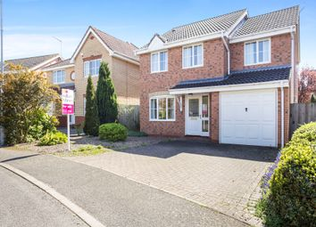 Thumbnail 4 bed detached house for sale in Fuller Close, West Winch, King's Lynn