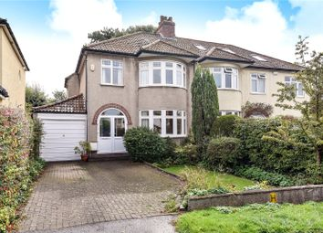 Thumbnail 3 bed semi-detached house for sale in Roman Way, Stoke Bishop, Bristol