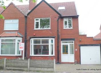 Thumbnail 3 bed semi-detached house to rent in Polefield Road, Prestwich, Manchester