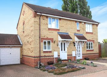 Thumbnail 2 bedroom semi-detached house for sale in Fieldfare Drive, Stanground, Peterborough