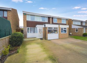 Thumbnail 3 bedroom semi-detached house for sale in Grays Close, Royston