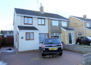 Thumbnail 3 bedroom semi-detached house for sale in Glan-Y-Llyn, North Cornelly, Bridgend, Bridgend.