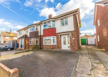 Thumbnail 3 bedroom semi-detached house for sale in Leander Drive, Gravesend, Kent