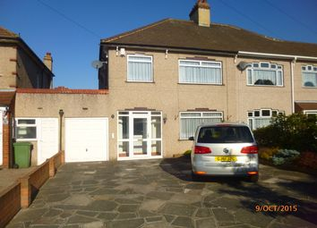 Thumbnail 3 bed semi-detached house to rent in Hythe Avenue, Bexleyheath