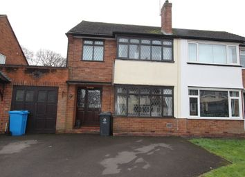 Thumbnail 3 bed semi-detached house to rent in Oakfield Road, Codsall, Wolverhampton