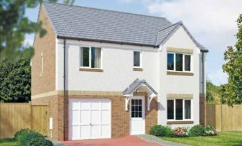 "Thumbnail 4 bed detached house for sale in ""The Whithorn"" at Dunlop Road, Stewarton, Kilmarnock"