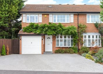 Thumbnail 3 bed semi-detached house for sale in Cabbell Place, Addlestone, Surrey