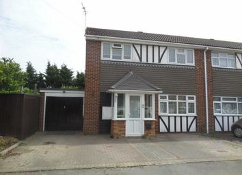 Thumbnail 3 bed semi-detached house to rent in Pinewood Close, Linford, Essex