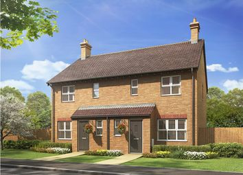 "Thumbnail 3 bed semi-detached house for sale in ""The Hanbury "" at Bannold Road, Waterbeach, Cambridge"
