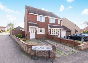 Thumbnail 2 bed semi-detached house for sale in Cleveland Close, Highwoods, Colchester