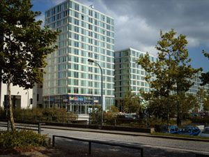Thumbnail 2 bedroom flat to rent in Manhattan House, The Hub, Milton Keynes