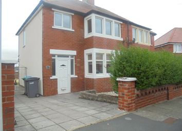 Thumbnail 3 bed semi-detached house to rent in Kelvin Road, Thornton-Cleveleys