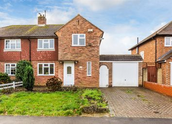 Thumbnail 3 bed semi-detached house for sale in Sangers Drive, Horley, Surrey