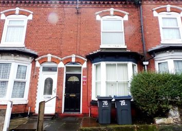 Thumbnail 3 bed terraced house to rent in 76 Hillfield Road, Sparkhill, Birmingham