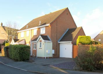 Thumbnail 3 bed semi-detached house for sale in Borkum Close, Andover