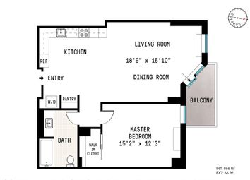 Thumbnail 1 bed property for sale in 333 Rector Place, New York, New York State, United States Of America