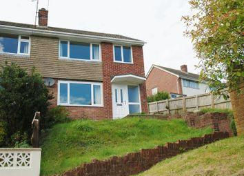 Thumbnail 3 bedroom semi-detached house to rent in Downham Gardens, Tamerton Foliot, Plymouth