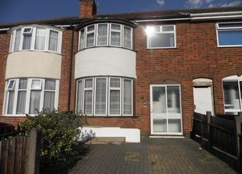 Thumbnail 3 bed terraced house to rent in Lymington Road, Leicester