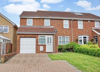 Thumbnail 4 bed semi-detached house for sale in Queens Gardens, Eaton Socon, St. Neots