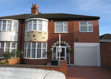 Thumbnail 5 bedroom semi-detached house for sale in Rowsley Avenue, Leicester